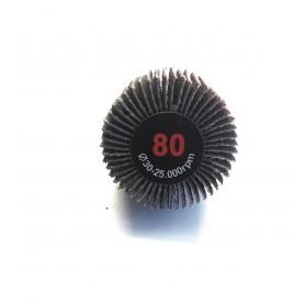 Schleifbürste lamellata - 30x20x6 gr.80 - RLG