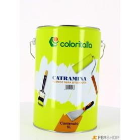 Schwarze Farbe catramina - lt. 5 -
