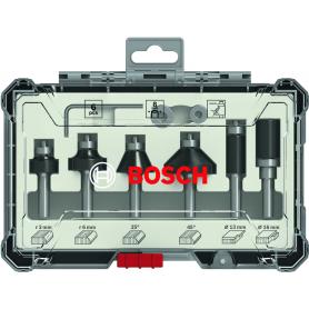Fräser-set 6-teilig bosch - mm.8 - x-glättung