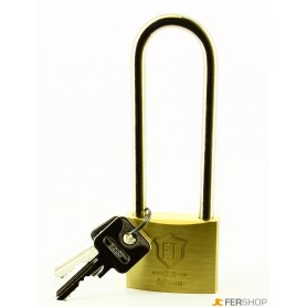 Lucchetto ft italy classic - mm.50 arco extra - ottone