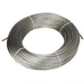 Seil-stahl-133-draht - durchm. 4 x 15 meter. - rolle