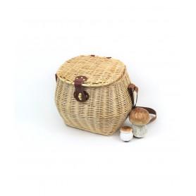 Korb mit pilzen, wicker natural - mod. lux - klar