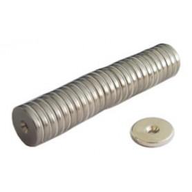 Magnet-knopf - c/bohrung - neodim d.20 - kg.30