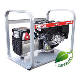 Generator mosa naked 220/400 - ge 8000 bbt - motor b&s benzin