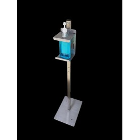 Hydro-tower für gel-handdesinfektionsmittel - easy edelstahl - nackt